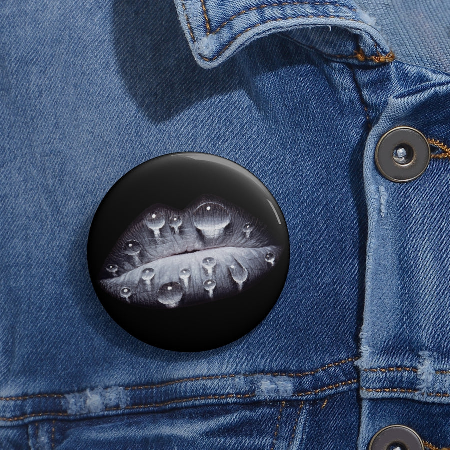 Rainy Day Black Pin Button