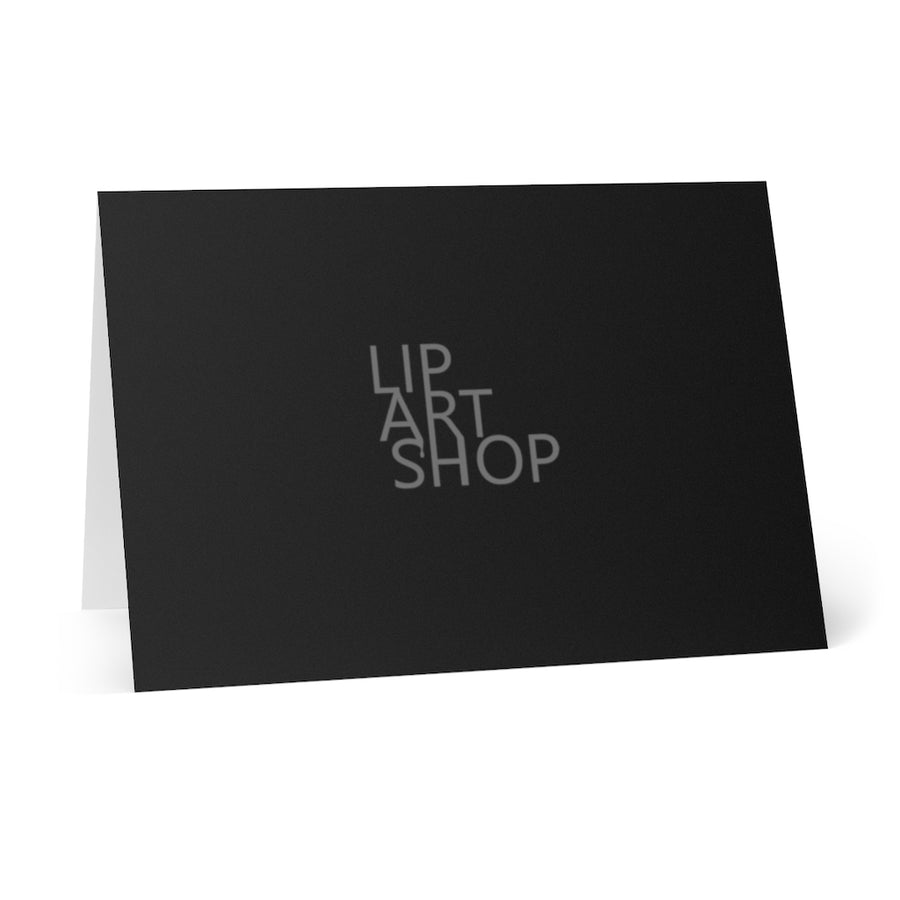 Gift Greeting Cards (8 pcs) - Black