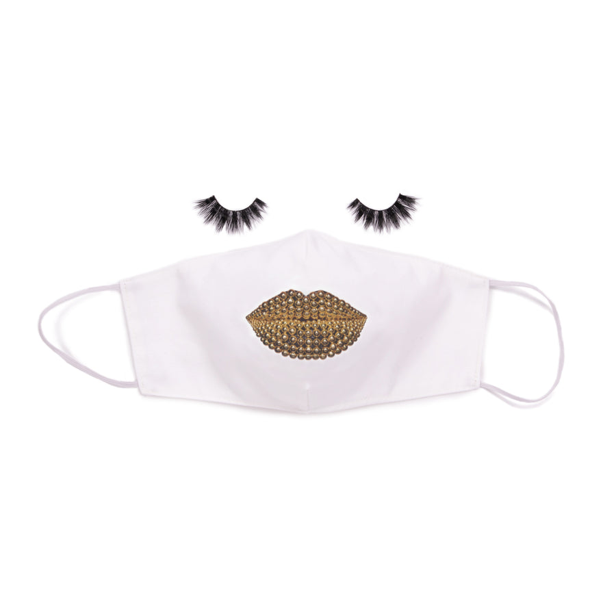 Beads Face Mask White