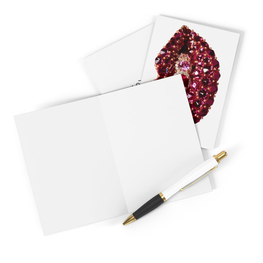 Garnet Greeting Cards (8 pcs) - White
