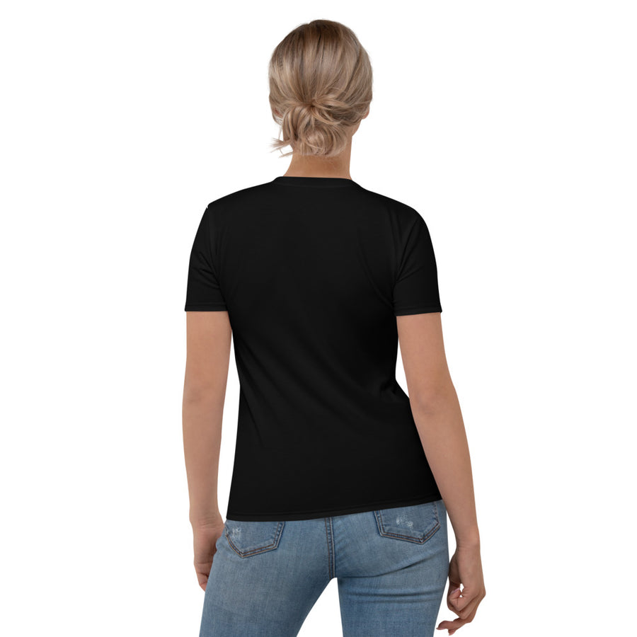 Beads Women's Crew Neck T-Shirt Black