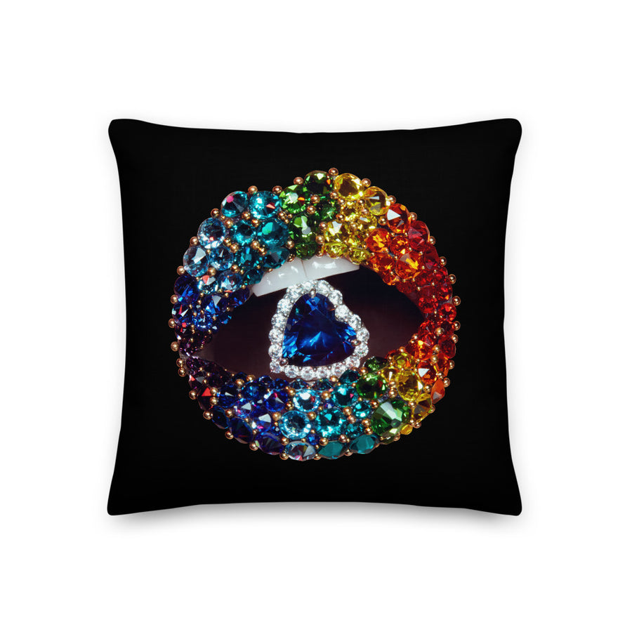 Beverly Hills Love is Love Two-Sided Black Pillow