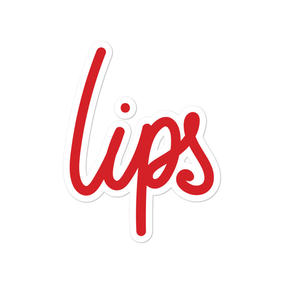 Lips Bubble-free stickers