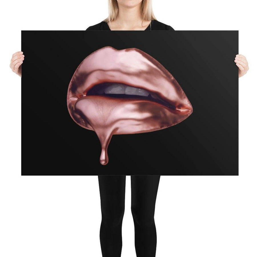 Rose Gold Poster Black