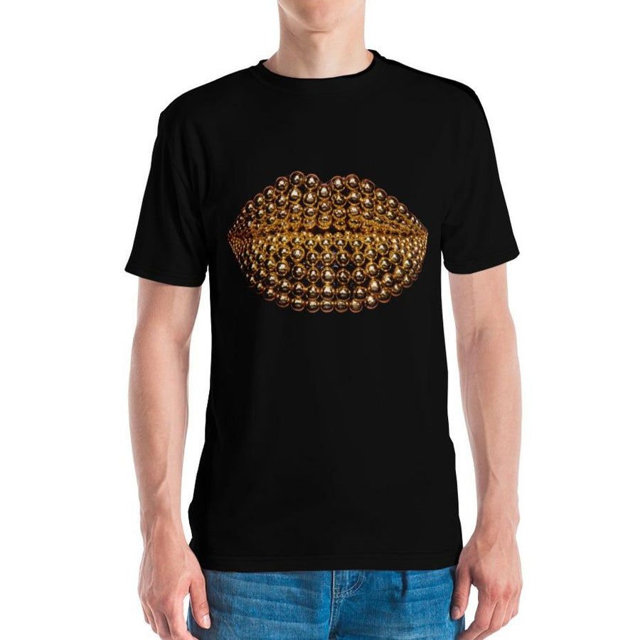 Beads Men's Crew Neck T-shirt Black