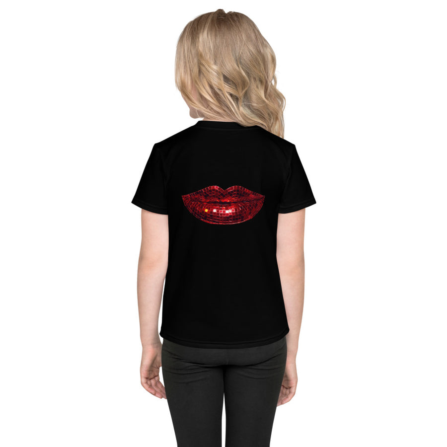 Disco Red Kids T-Shirt Black