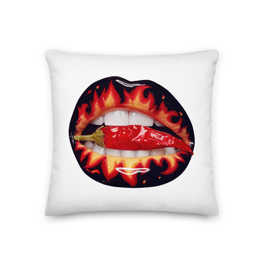 Hot Fetch Faux Linen Two-Sided White Pillow