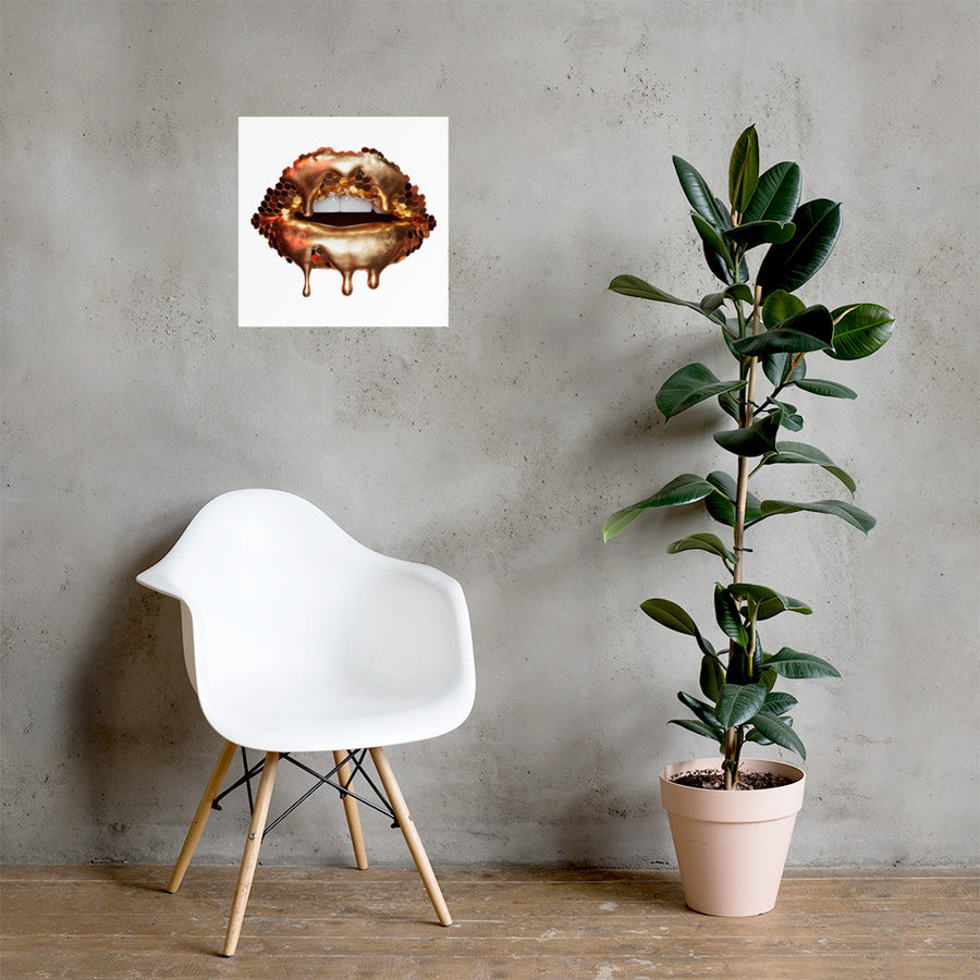Golden Honey Poster White