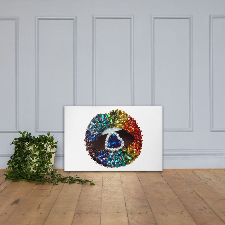 Love Is Love Canvas White