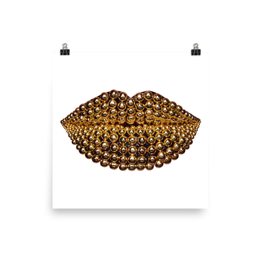 Beads Poster White