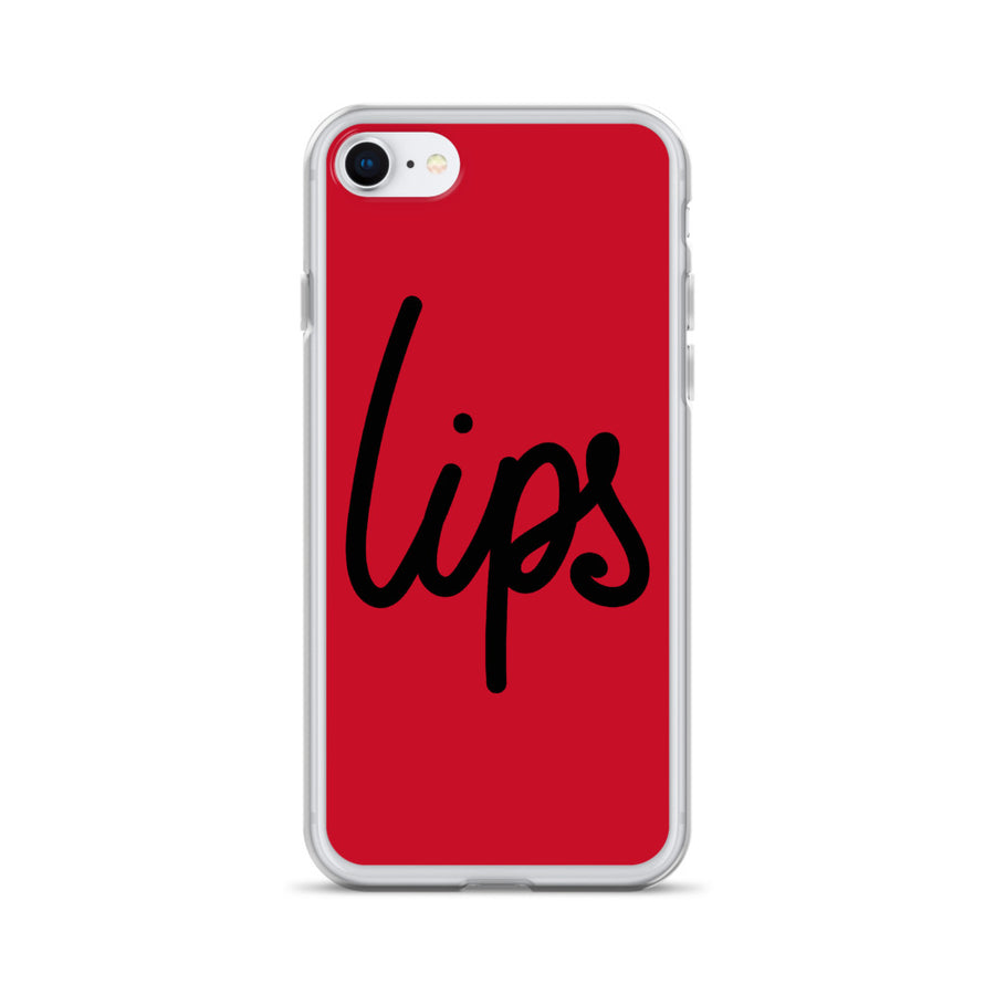 Lips iPhone Case Red