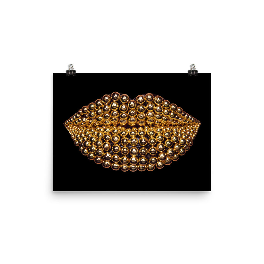 Beads Poster Black
