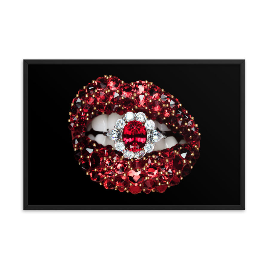 Ruby Framed Poster Black