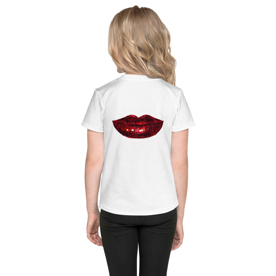 Disco Red Kids T-Shirt White