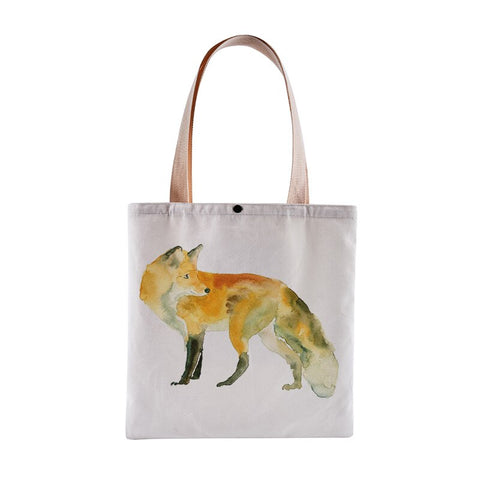 Tote Bag Renard <br> Aquarelle