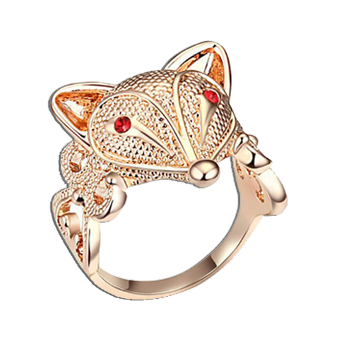 Bague Renard Or Rose | Malin-Renard