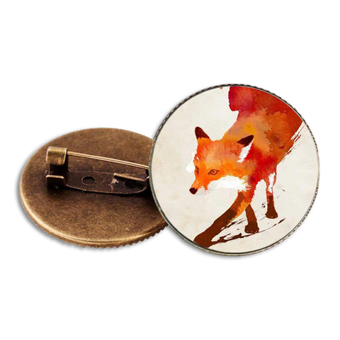 Broches Renard Aquarelle | Malin-Renard