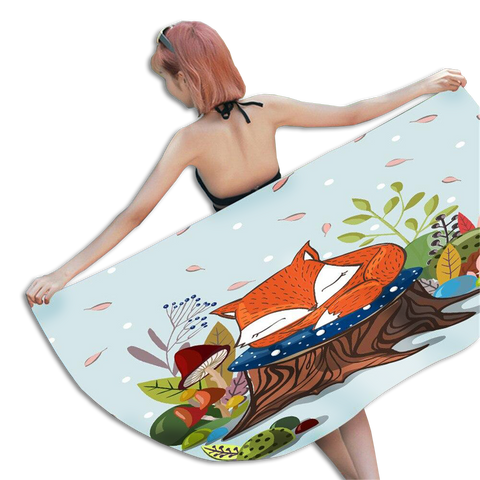 Serviette de Bain Renard Cartoon | Malin-Renard