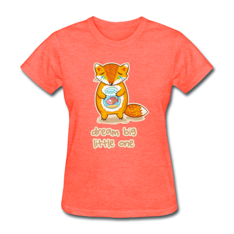 T-Shirt Renard <br> Rêve en Grand - heather coral