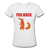 T-Shirt Renard <br> Rock - white