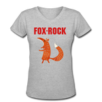 T-Shirt Renard <br> Rock - gray