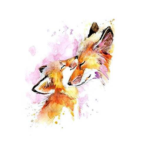 Tatouage Renard Aquarelle | Malin-Renard