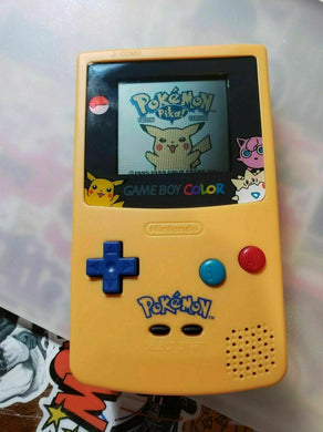 GameBoy Color Pokemon Pikachu Edition Nintendo System Blue & Yellow Game Boy GBC - InfiniteStick