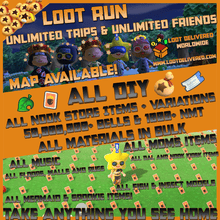 Load image into Gallery viewer, Animal Crossing New Horizons ⏱️ Loot Run!👟All Items and DIY | Bulk Materials & more! - LootDelivered.com