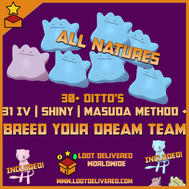 30+ Ditto's 31 IV Shiny & NonShiny's For Breeding Pokemon Home Upload - InfiniteStick