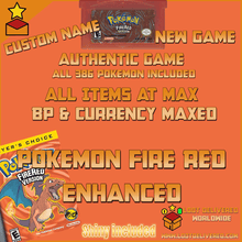 Load image into Gallery viewer, Pokemon Fire Red Enhanced All Shiny Pokemon & items - InfiniteStick