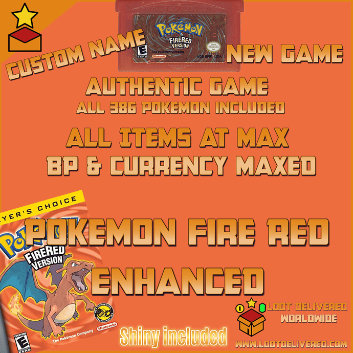 Pokemon Fire Red Enhanced All Shiny Pokemon & items - InfiniteStick