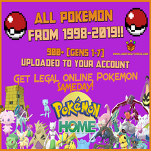 Load image into Gallery viewer, Pokemon Home Generations 1-7 Moving Service  Pokemon Home Completed with Fast Delivery