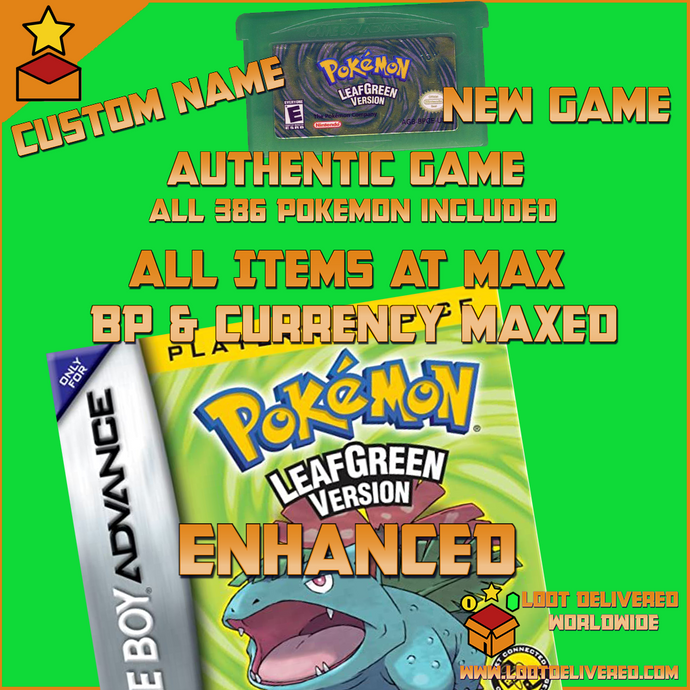 Pokemon Leaf Green Enhanced | All Pokemon, items, currency and more!