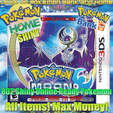 Load image into Gallery viewer, Pokémon Moon 3ds Preloaded Enhanced & Unlocked Game 807 Pokemon All Items and Money - InfiniteStick