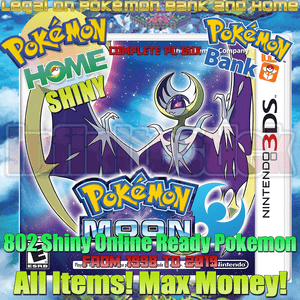 Pokémon Moon 3ds Preloaded Enhanced & Unlocked Game 807 Pokemon All Items and Money - InfiniteStick