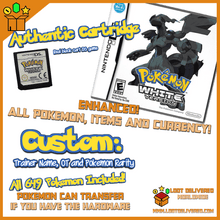 Load image into Gallery viewer, Pokemon White DS Enhanced with all 649 Pokemon + items - LootDelivered.com