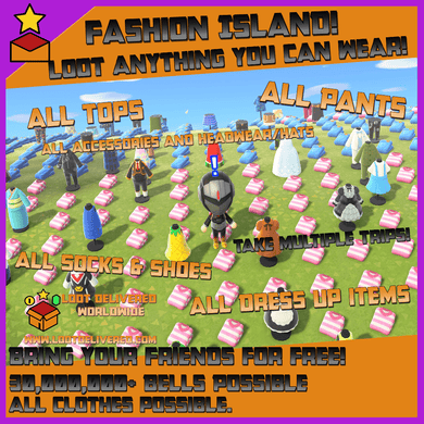 Fashion Island | Animal Crossing New Horizons | Take anything you can wear! - LootDelivered.com