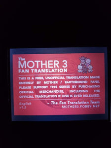 Mother 3 | Earthbound | GBA | English Patch Gameboy Cart with Display mount! - InfiniteStick