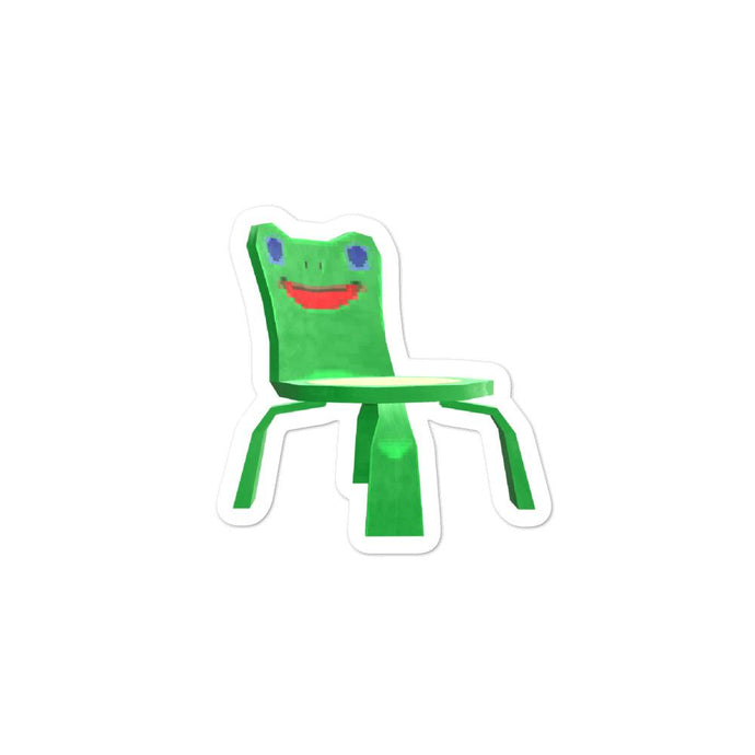 Froggy Chair Animal Crossing Bubble-free stickers - InfiniteStick