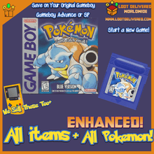 Load image into Gallery viewer, Pokemon Blue Enhanced! Gameboy Color Saves! New Game with All  151 Pokemon! - InfiniteStick
