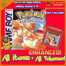 Load image into Gallery viewer, Pokemon Red Enhanced! Gameboy Color Saves! New Game with All Pokemon! - InfiniteStick