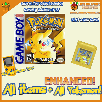 Pokemon Yellow Enhanced! Gameboy Color Saves! New Game with All  151 Pokemon! - InfiniteStick
