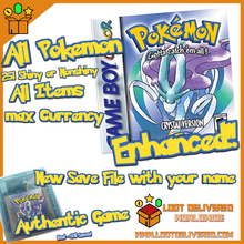 Load image into Gallery viewer, POKEMON CRYSTAL All 251 SHINY GAME Enhanced AUTHENTIC & NEW BATTERY! - InfiniteStick