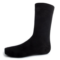 Black Solid Dress Socks