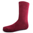 Burgundy Solid Dress Socks