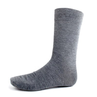 Charcoal Solid Dress Socks