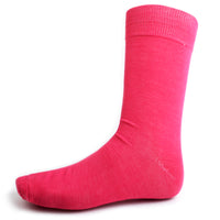 Fuchsia Solid Dress Socks