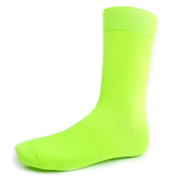 Light Green Solid Dress Socks
