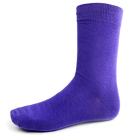 Purple Solid Dress Socks
