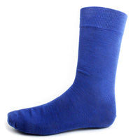 Royal Blue Solid Dress Socks